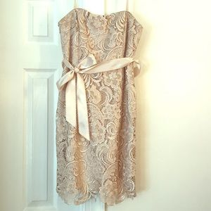 Like New Adrianna Papell lace evening dress